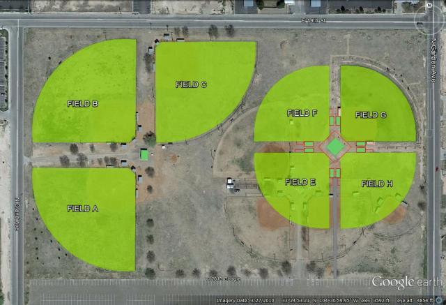 Wool Bowl Softball Complex NEW LAYOUT