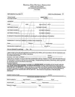 14u registration form